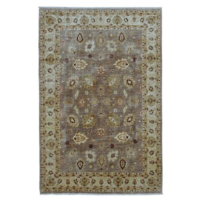 One-of-a-Kind Pearle Traditional Oriental Hand Woven Wool Brown Area Rug