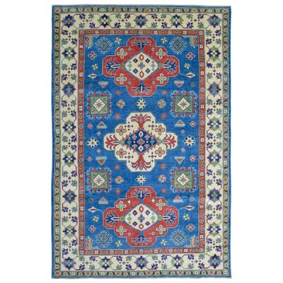 One-of-a-Kind Abbotsford Traditional Oriental Hand Woven Wool Blue/Beige Area Rug