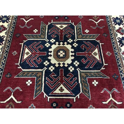 One-of-a-Kind Abbotsford Oriental Hand Woven Wool Red Area Rug