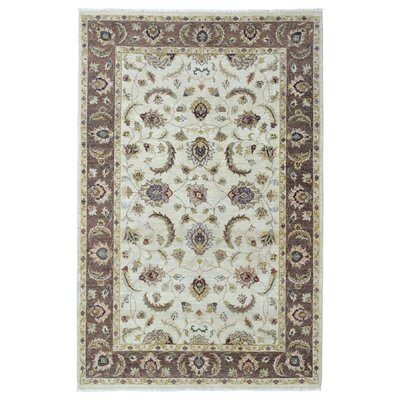 One-of-a-Kind Darrin Oriental Hand Woven Wool Beige Area Rug