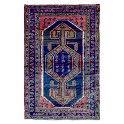 One-of-a-Kind Adalaide Persian Antique Hamadan Oriental Hand Woven Wool Blue/Green Area Rug
