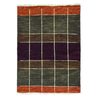 One-of-a-Kind Adilcevaz Gabbeh Hand Woven Wool Green Area Rug