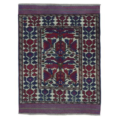 One-of-a-Kind Adrian Baluch Hand Woven Wool Beige Area Rug
