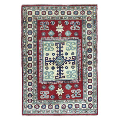 One-of-a-Kind Abbotsford Oriental Hand Woven Rectangle Wool Green/Red/Beige Area Rug