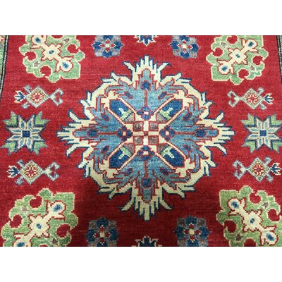 One-of-a-Kind Abbotsford Oriental Geometric Hand Woven Wool Red/Beige Area Rug