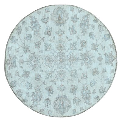 One-of-a-Kind Pearle Oriental Hand Woven Round Wool Beige Area Rug