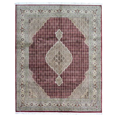 One-of-a-Kind Slagen Oriental Floral Hand Woven Wool Red Area Rug