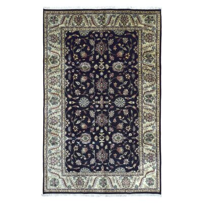 One-of-a-Kind Penni Oriental Hand Woven Wool Navy Area Rug