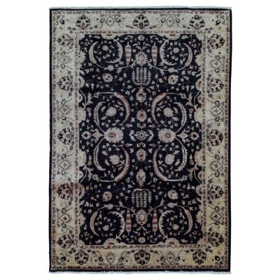 One-of-a-Kind Pearle Traditional Oriental Hand Woven Wool Black Area Rug