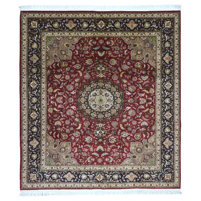 One-of-a-Kind Lieber Oriental Hand Woven Wool Red Area Rug