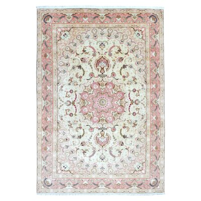 One-of-a-Kind Lieber Traditional Oriental Hand Woven Wool Pink Area Rug