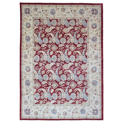 One-of-a-Kind Pearle Oriental Hand Woven Wool Red Area Rug