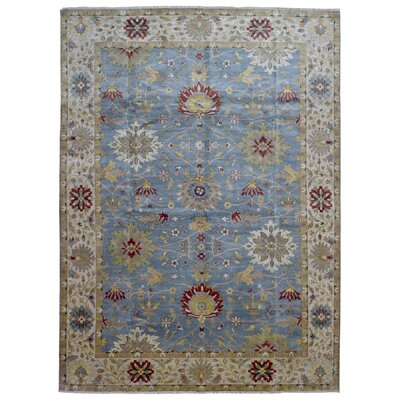 One-of-a-Kind Tanesha Oriental Hand Woven Wool Blue Area Rug