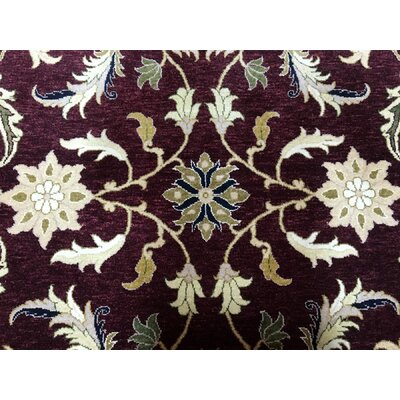 One-of-a-Kind Penni Hand Woven Wool Burgundy/Beige Area Rug