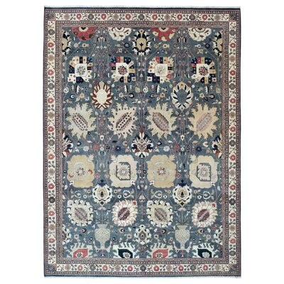 One-of-a-Kind Slagen Oriental Hand Woven Wool Gray Area Rug