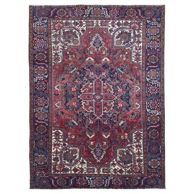 One-Of-A-Kind Jim Hand Woven Wool Red/Blue Area Rug