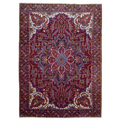 One-of-a-Kind Garreth Persian Semi-Antique Heriz Oriental Hand Woven Wool Red Area Rug