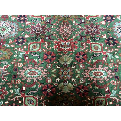 One-of-a-Kind Johnstone Oriental Hand Woven Wool Green Area Rug