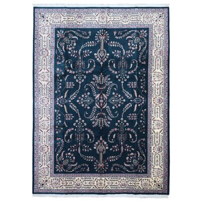 One-of-a-Kind Casandra Hand Woven Wool Green Area Rug