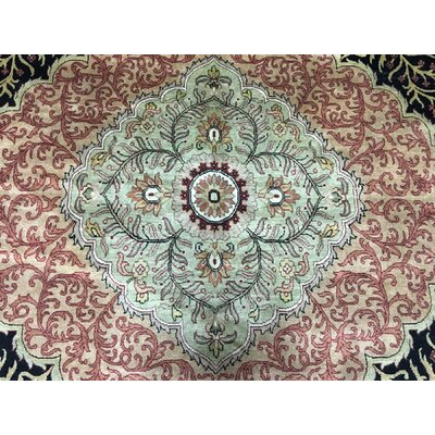 One-of-a-Kind Slagen Oriental Hand Woven Wool Green Area Rug