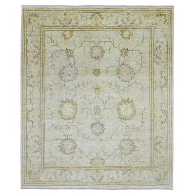 One-of-a-Kind Pearle Hand Woven Wool Beige Area Rug