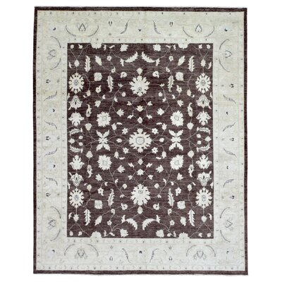 One-of-a-Kind Pearle Hand Woven Wool Brown/Light Beige Area Rug