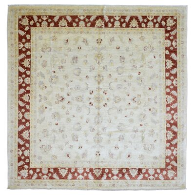 One-of-a-Kind Baron Hand Woven Wool Beige Area Rug