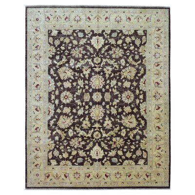One-of-a-Kind Pearle Hand Woven Wool Brown Area Rug