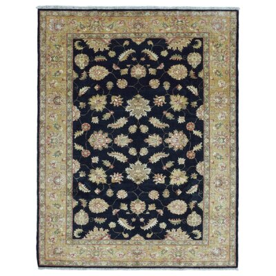 One-of-a-Kind Pearle Hand Woven Wool Navy Area Rug