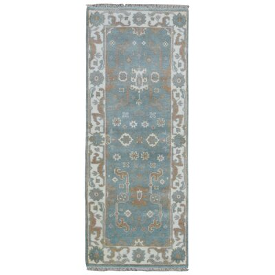 Mitchel Hand Woven Wool Blue/Beige Area Rug
