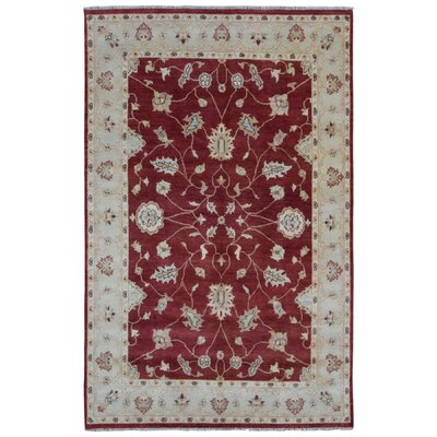 Ardith Traditional Hand Woven Wool Red/Beige Area Rug
