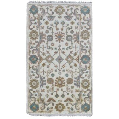 Mitchel Hand Woven Wool Beige/Green Area Rug