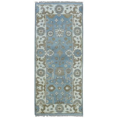 Mitchel Rectangle Hand Woven Wool Blue/Beige Area Rug