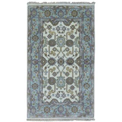 Mitchel Vegetable Dye Rectangle Hand Woven Wool Blue/Beige Area Rug
