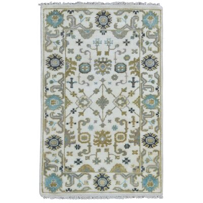 Mitchel Vegetable Dye Hand Woven Wool Beige/Green Area Rug