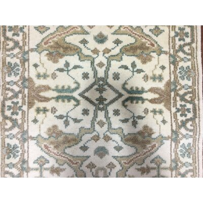 Mitchel Traditional Hand Woven Wool Beige/Green Area Rug
