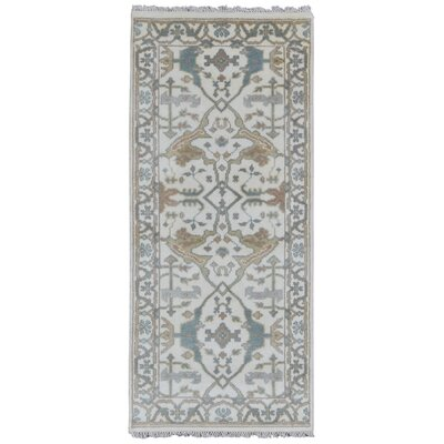 Mitchel Rectangle Hand Woven Wool Beige/Green Area Rug