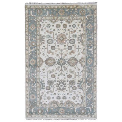 Mitchel Traditional Vegetable Dye Hand Woven Wool Blue/Beige Area Rug