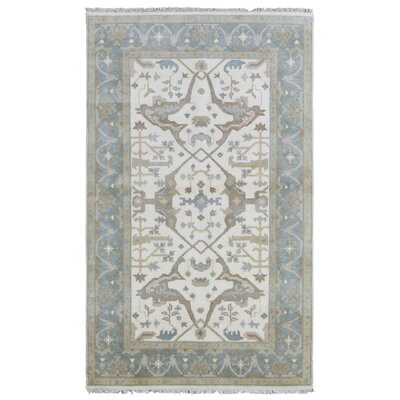Mitchel Hand Woven Wool Blue/Beige Area Rug Size: 4'10