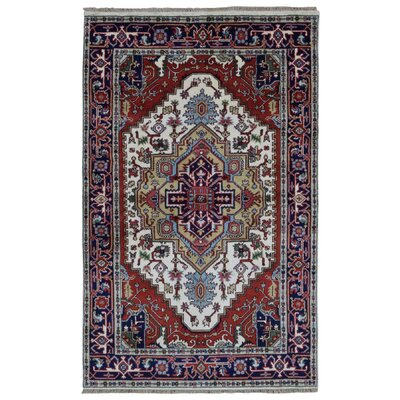 Roselle Hand Woven Wool Navy/Gold Area Rug