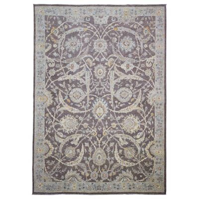 Ardith Hand Woven Wool Brown/Light Blue Area Rug