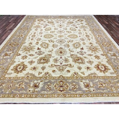Ardith Hand Woven Wool Beige/Gold Area Rug