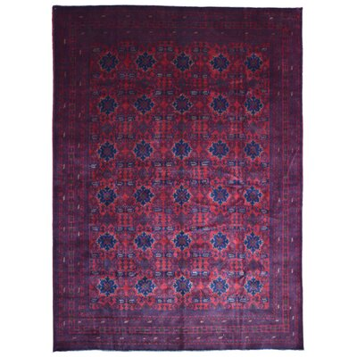 Seamus Khal Mohammadi Afghan Hand Woven Wool Pink/Blue Area Rug