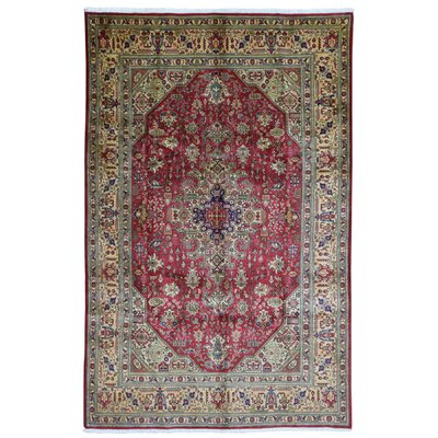 Ballyclarc Hand Woven Wool Red/Beige Area Rug