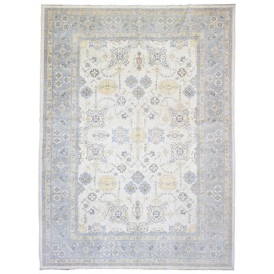 Ardith Hand Woven Wool Blue/Beige Area Rug