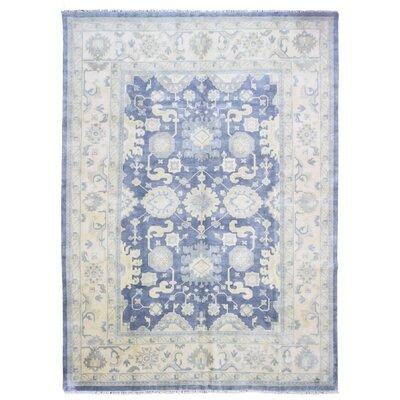 Mitchel Vegetable Dye Hand Woven Wool Blue/Beige Area Rug
