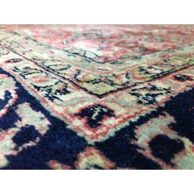 Sebaa Kashan Hand Woven Wool Red/Blue Area Rug
