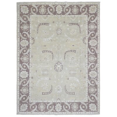 Ardith Hand Woven Wool Beige/Brown Area Rug