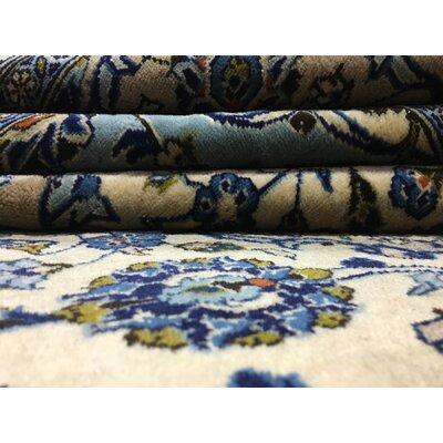 Ballynure Hand Woven Wool Blue/Beige Area Rug