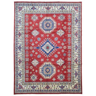Roslyn Hand Woven Wool Red/Beige Area Rug